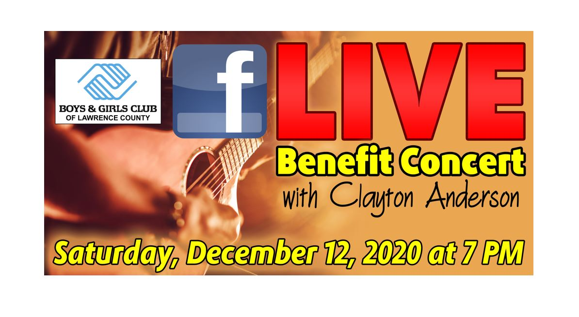 Online Auction & Benefit Concert with Clayton Anderson December 12th, at 7:00PM